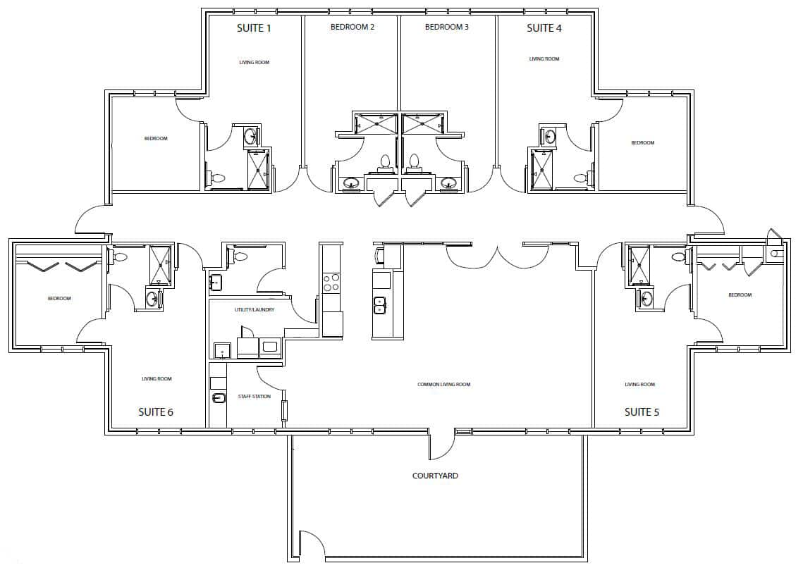 Rosemary Floor Plan for Assisted Living in Pinehurst North Carolina