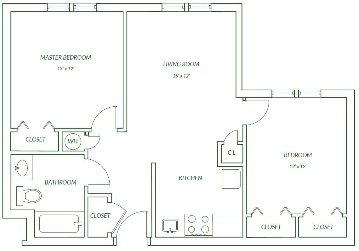 Magnolia Floor Plan for Independent Living in Pinehurst NC