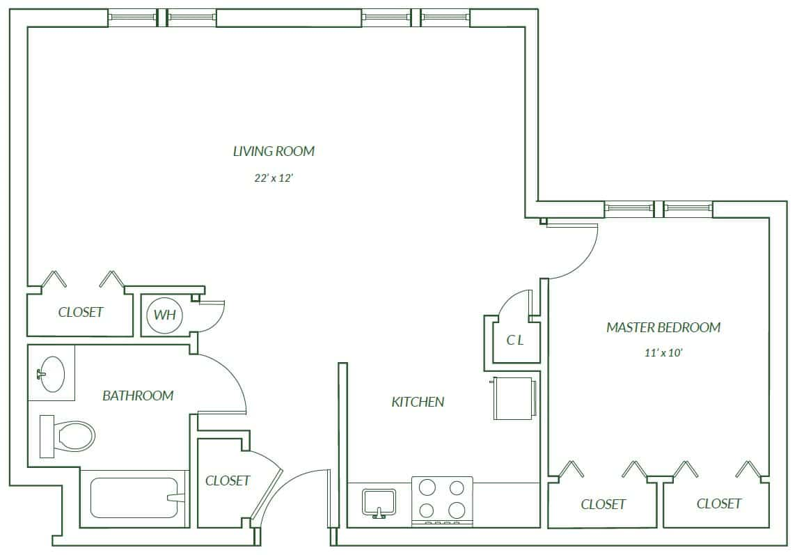 Peach Floor Plan